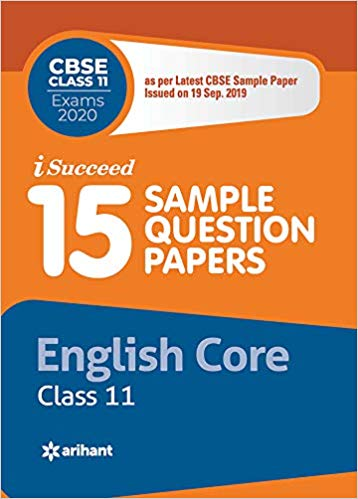 Arihant isucceed   - ENGLISH CORE (Latest 15 Sample Question Papers)  with MCQs - 11                 (2019 - 2020) - bookmarshal.com
