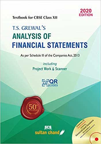 T.S. Grewal's- Analysis of Financial Statements - Vol. 3 for class - 12         (2020- 2021 Session)      CBSE - bookmarshal.com