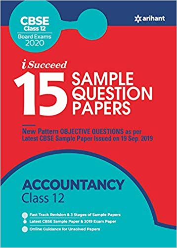 Arihant isucceed   - ACCOUNTANCY   with MCQs - 12                  (2019 - 2020) - bookmarshal.com