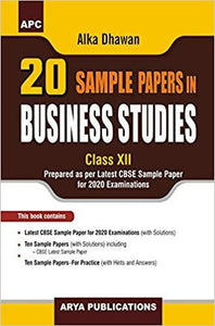 20 Sample Papers in Business for class - 12         (2019- 2020 Session)      CBSE - bookmarshal.com