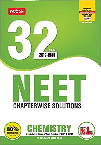 CHEMISTRY - 32 Years NEET Chapterwise Solutions                  (2019 - 2020) - bookmarshal.com