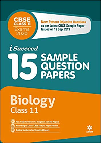 Arihant isucceed   - BIOLOGY (Latest 15 Sample Question Papers)  with MCQs - 11                 (2019 - 2020) - bookmarshal.com