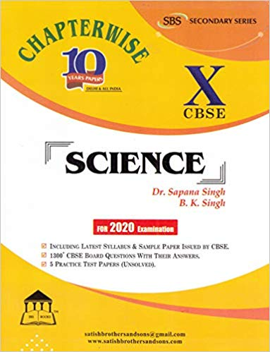 CBSE Past 10 Years Chapterwise Board Papers SCIENCE - 10        2020 Edition - bookmarshal.com