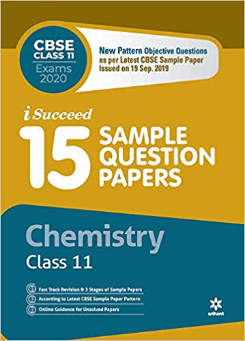 Arihant isucceed   - CHEMISTRY (Latest 15 Sample Question Papers)  with MCQs - 11                 (2019 - 2020) - bookmarshal.com
