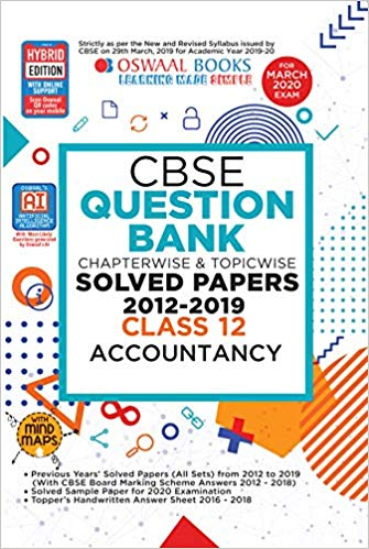 Oswaal  - ACCOUNTANCY Chapterwise & Topicwise Question Bank including MCQs  - 12                 (2019 - 2020) - bookmarshal.com