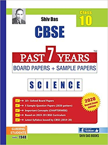 CBSE Past 7 Years Board Papers and Sample Papers SCIENCE - 10        2020 Edition - bookmarshal.com