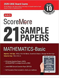 Mathematics (Basic) -ScoreMore 21 Sample Papers as per Revised Pattern for 2020 – Class 10      CBSE - bookmarshal.com