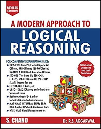 A Modern Approach to Logical Reasoning by R.S. Aggarwal (2019-20 Session) - bookmarshal.com