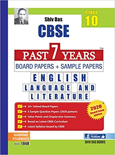 CBSE Past 7 Years Board Papers and Sample Papers ENGLISH - 10        2020 Edition - bookmarshal.com