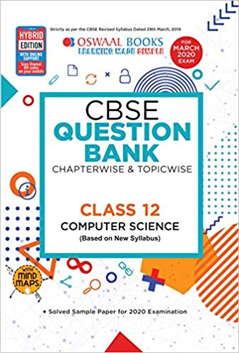 Oswaal  - COMPUTER SCIENCE with PYTHON Chapterwise & Topicwise Question Bank including MCQs  - 12                 (2019 - 2020) - bookmarshal.com