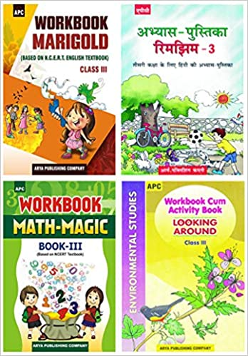 APC - Marigold, Rimjhim, Math Magic, EVS (Set of 4 Books) - 3rd          WORKBOOK - 2020 (Based on NCERTs) - bookmarshal.com