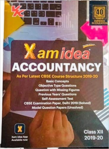 Xam Idea  - ACCOUNTANCY - 12                  (2019 - 2020) - bookmarshal.com