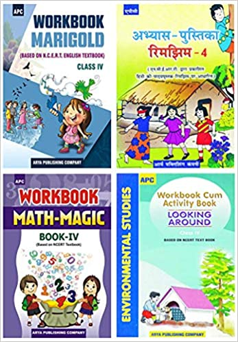 APC - Marigold, Rimjhim, Math Magic, EVS (Set of 4 Books) - 4th          WORKBOOK - 2020 (Based on NCERTs) - bookmarshal.com