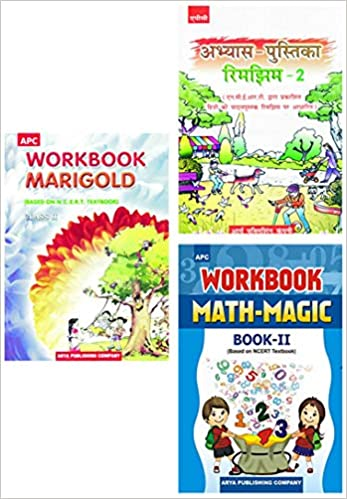 APC - Marigold, Rimjhim, Math Magic (Set of 3 Books) - 2nd          WORKBOOK - 2020 (Based on NCERTs) - bookmarshal.com