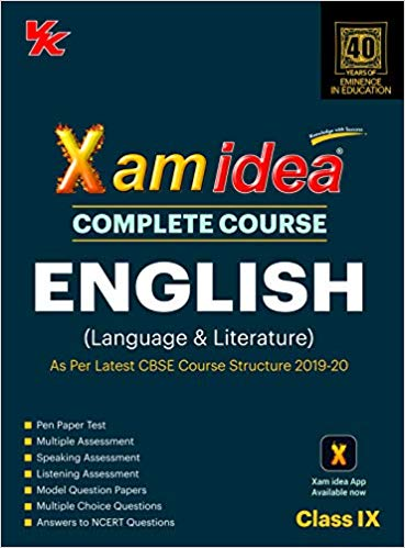 Xam Idea  - ENGLISH (Language & Literature) complete course - 9                  (2019 - 2020) - bookmarshal.com