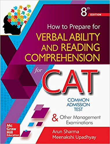 How to prepare for VERBAL ABILITY and READING COMPREHENSION for CAT -  Arun Sharma          8th Edition - bookmarshal.com