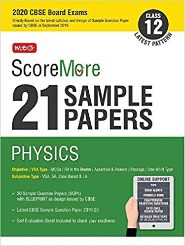 Physics -ScoreMore 21 Sample Papers as per Revised Pattern for 2020 – Class 12      CBSE - bookmarshal.com