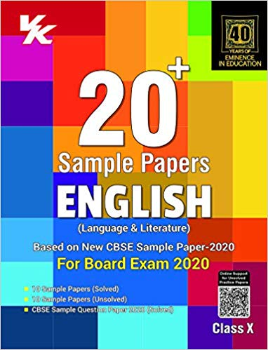 Xam Idea 20+ CBSE Sample Papers  - ENGLISH  - 10                  (2019 - 2020) - bookmarshal.com