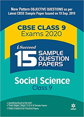 Arihant isucceed   - SOCIAL SCIENCE  with MCQs - 9                  (2019 - 2020) - bookmarshal.com