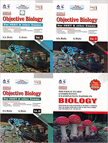 Dinesh - Objective Biology for NEET & Other Exams (Set of 3 Volumes) (2019-2020 Session) - bookmarshal.com
