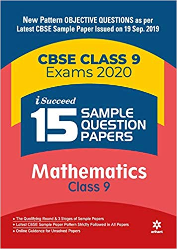 Arihant isucceed   - MATHEMATICS  with MCQs - 9                  (2019 - 2020) - bookmarshal.com