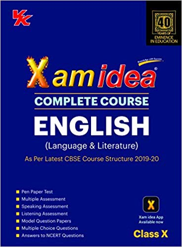 Xam Idea  - ENGLISH (Language & Literature) complete course - 10                  (2019 - 2020) - bookmarshal.com