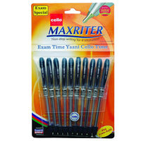 Cello Maxriter Ball Pen Set - Pack of 10 (Blue) - bookmarshal.com