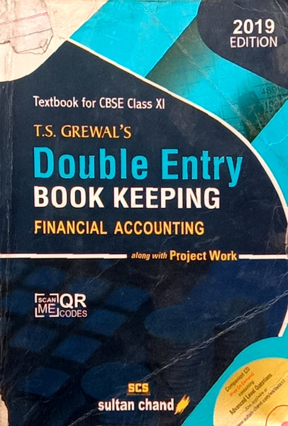 Second Hand - TS Grewal's Accountancy - Double Entry Book Keeping 2019 Edition - 11th