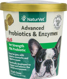 NaturVet Advanced Probiotics & Enzymes Plus Vet Strength PB6 Probiotic Soft Chews Dog Supplement
