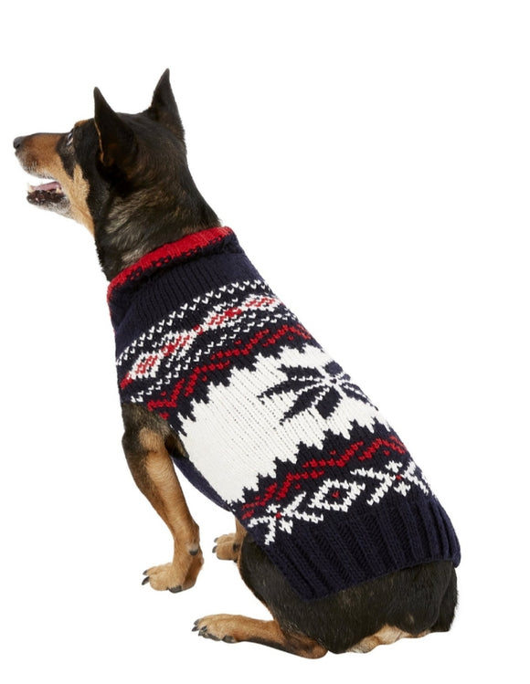 Chilly Dog Navy Vail Dog Sweater