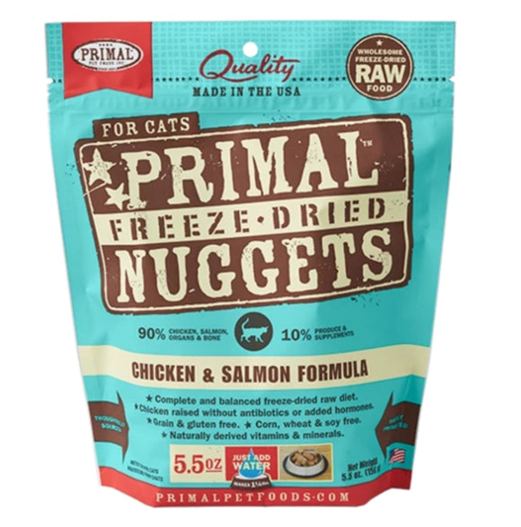 Primal Freeze-Dried Chicken & Salmon Formula 5.5oz