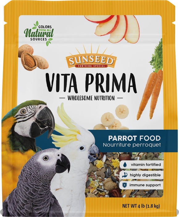 Sunseed Vita Prima Parrot Food, 4-lb bag