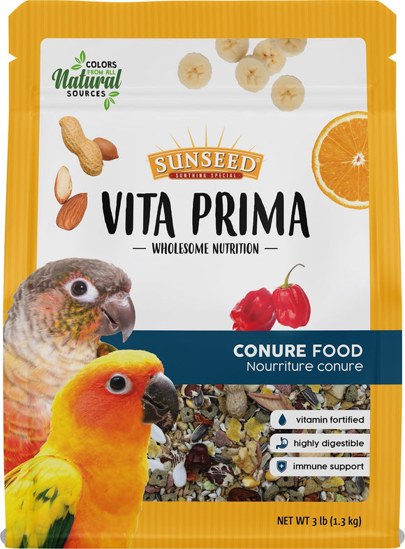 Sunseed Vita Prima Conure Food, 3-lb bag