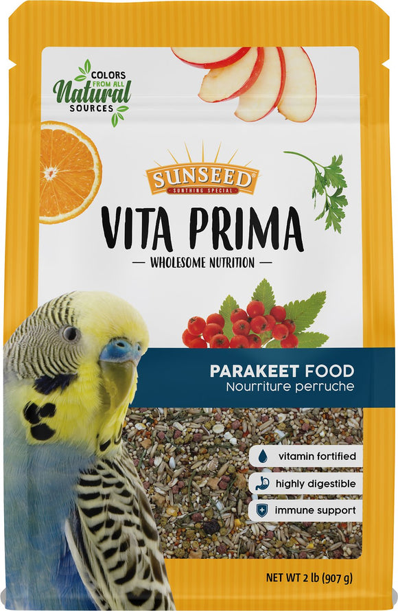 Sunseed Vita Prima Parakeet Food, 2-lb bag