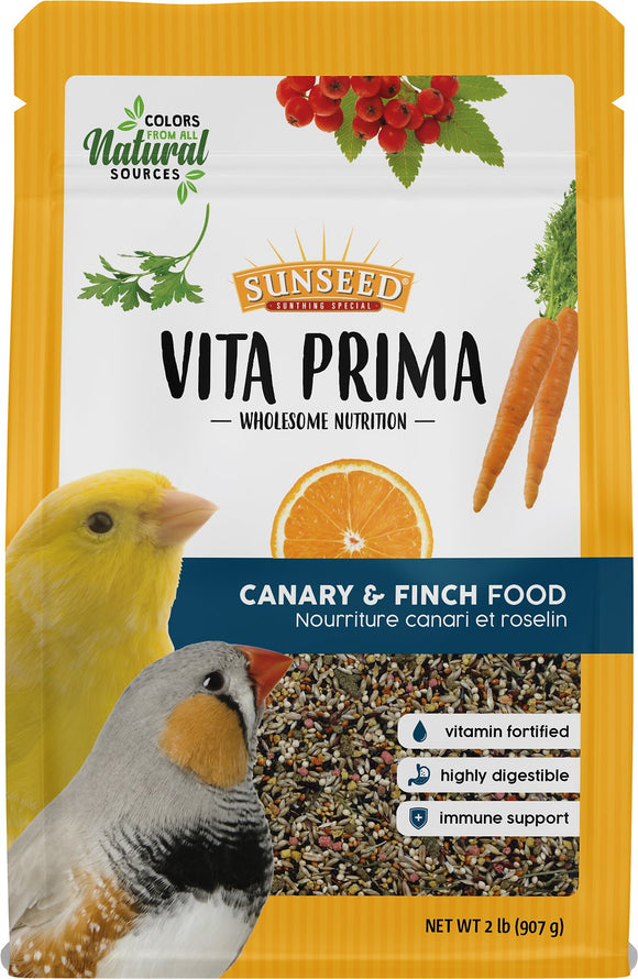 Sunseed Vita Prima Canary & Finch Food, 2-lb bag