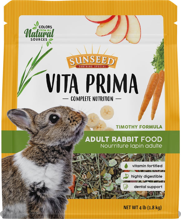 Sunseed Vita Prima Adult Rabbit Food, 4lb Bag