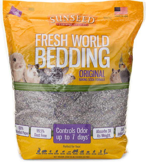 Sunseed Fresh World Small Pet Bedding, 2,130-in bag