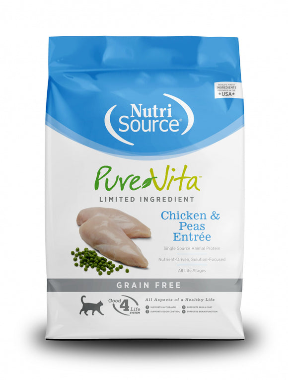 NutriSource PureVita Grain Free Chicken & Peas Formula Dry Cat Food