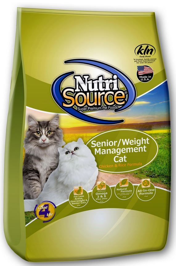 NutriSource Senior Weight Management Chicken & Rice Formula Cat Food