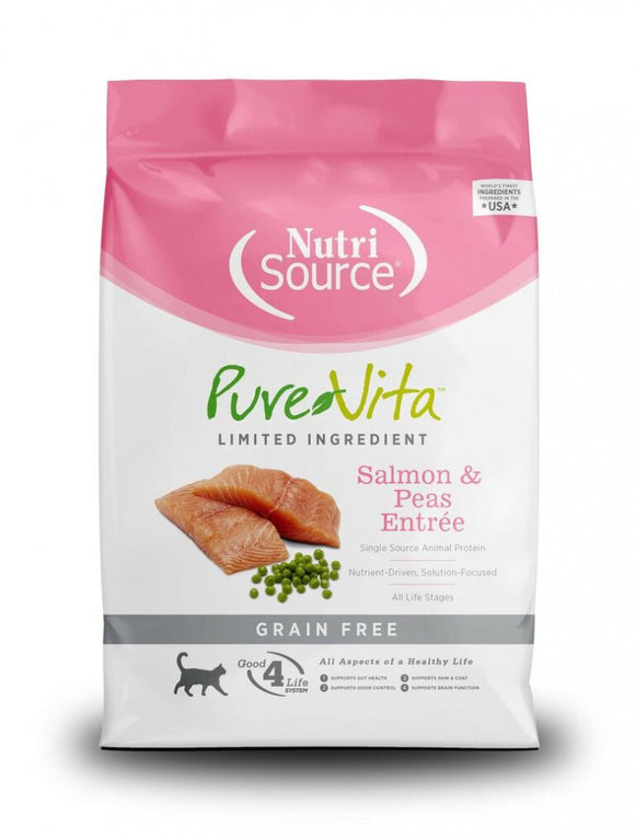 NutriSource PureVita Grain Free Salmon & Pea Formula Dry Cat Food