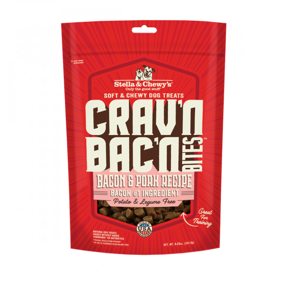 Stella & Chewy's Crav'n Bac'n Bites Bacon & Pork Recipe Dog Treats