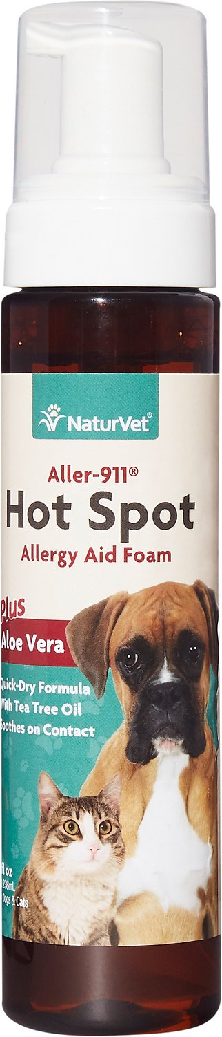 NaturVet Aller-911 Allergy Aid Hot Spot Plus Aloe Vera Dog & Cat Foam