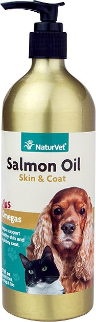 NaturVet Salmon Oil Skin & Coat Omegas Dog & Cat Supplement
