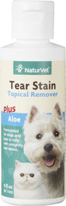 NaturVet Tear Stain Remover Dog & Cat Liquid Topical Formula