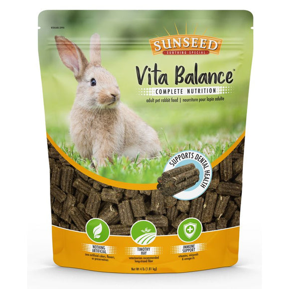 Sunseed Vita Balance Adult Pet Rabbit Food, 4lb