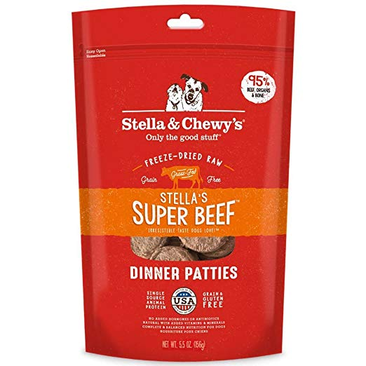 Stella & Chewy's Beef Dinner Patties Freeze-Dried Raw Dog Food 5.5z