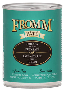 Fromm Gold Grain-Free Chicken and Duck Pate Canned Dog Food, 12.2-oz