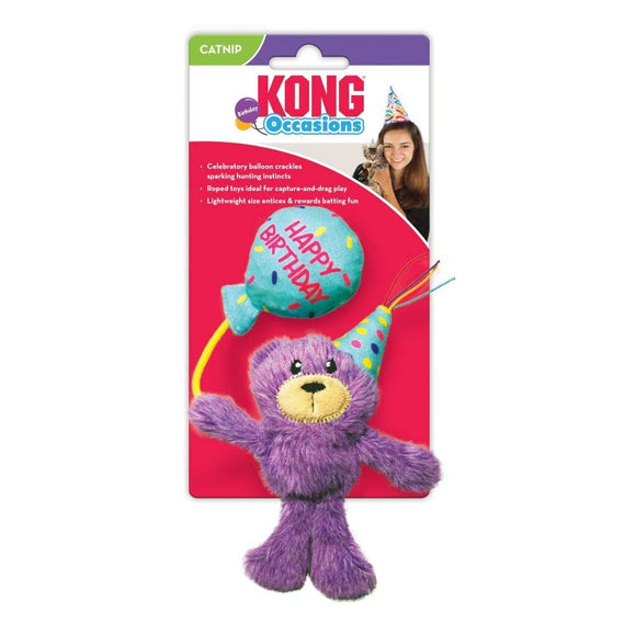 KONG Cat Occasions Birthday Teddy Cat Toy
