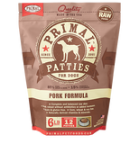 PRIMAL DOG PORK PATTIES FROZEN 3Lb-6Lb