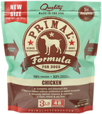PRIMAL DOG CHICKEN PATTIES FROZEN 3Lb- 6Lb